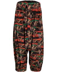 Marc By Marc Jacobs - Special Edition Deer Printed Silk Drop Crotch Belted Pants M - Lyst