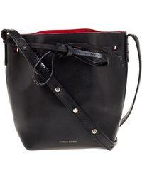 Mansur Gavriel Black Leather Mini Bucket Bag