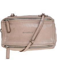 Givenchy Beige Leather Mini Pandora Sugar Crossbody Bag - Natural