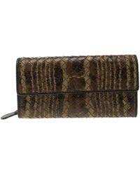 Bottega Veneta - Printed Intrecciato Leather Continental Wallet - Lyst