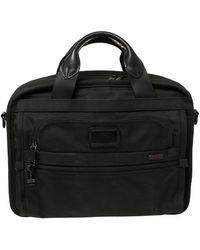 Tumi Black Nylon Alpha T-pass Expandable Laptop Bag