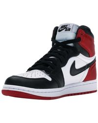 Nike Jordan 1 Retro High Satin Black Toe Trainers