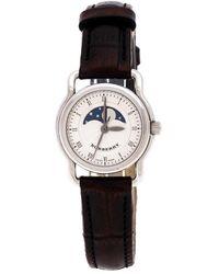 Burberry Silver Stainless Steel Bu1220 Women's Wristwatch 25 Mm - Brown