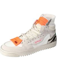 Off-White c/o Virgil Abloh Off White Mix Media High Top Trainers