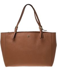 Tory Burch Tan Leather Large York Buckle Tote - Brown
