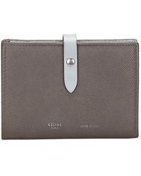 Céline Gray/blue Leather Small Multifunction Strap Wallet