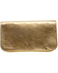 Carolina Herrera - Leather Flap Clutch - Lyst
