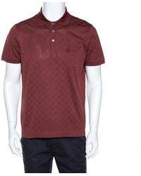 Louis Vuitton Brick Red Damier Pique Polo T Shirt - Brown