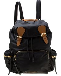 Burberry The Rucksack Black Synthetic Backpack