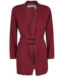 Ferragamo Vintage Red Belted Coat M