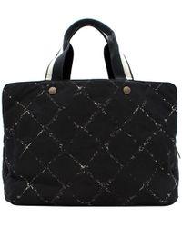 Chanel Nylon Travel Line Duffel Bag - Black