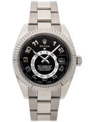 Rolex Black 18k White Gold Sky-dweller 326139 Men's Wristwatch 44mm