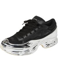 adidas By Raf Simons Black/silver Leather Ozweego Core Sneakers