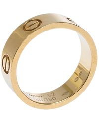 Cartier Love 18k Yellow Gold Band Ring Size 52 - Metallic