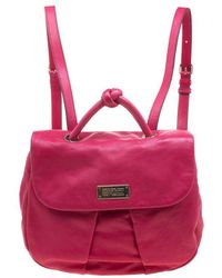 Marc By Marc Jacobs Pink Leather Marchive Backpack