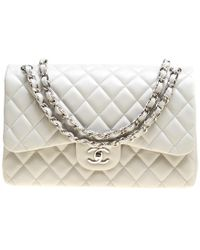 291cafd9cd47f1 Lyst - Rebecca Minkoff Love Chevron Quilted Jumbo Leather Crossbody