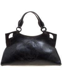 Cartier Black Leather Marcello De Satchel
