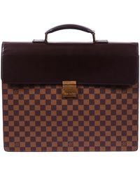 Louis Vuitton Damier Ebene Altona Pm Briefcase - Brown