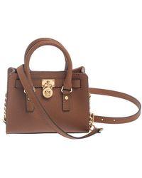 Michael Kors Michael Brown Leather Mini Hamilton Crossbody Bag