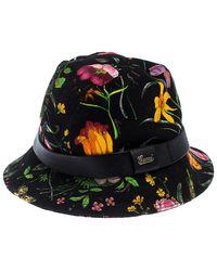 Gucci Black Floral Print Bucket Hat
