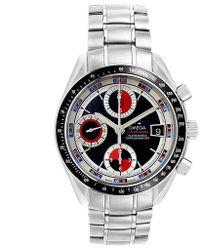 Omega Black Stainless Steel Speedmaster Chronograph 3210.52.00 Men's Wristwatch 40mm