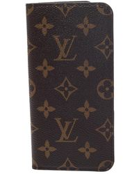 Louis Vuitton Monogram Canvas Iphone 7+ Folio Case - Brown