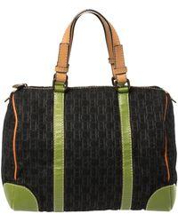 Carolina Herrera Multicolor Signature Canvas And Leather Andy Boston Bag - Black