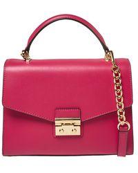 Michael Kors Pink Leather Sloan Top Handle Bag