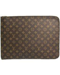 Louis Vuitton Monogram Poche Documents Portfolio Case - Brown