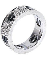 Cartier Diamants Legers 18k White Gold Heart Motif Necklace