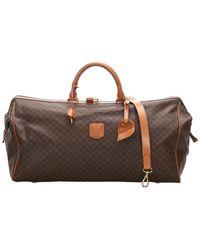 Celine Brown Macadam Canvas Travel Bag