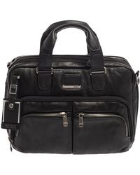 Tumi - Black Leather Alpha Bravo Albany Slim Bag - Lyst