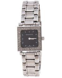 Tiffany & Co. Grey Stainless Steel Atlas 30260324 Women's Wristwatch 23mm - Metallic