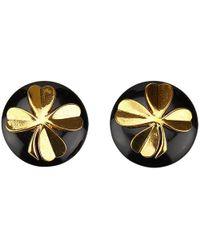 Chanel - Vintage Black Plastic Earrings - Lyst