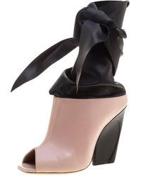 Dior - Pink Leather Ankle Boots - Lyst