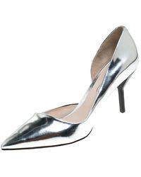 3.1 Phillip Lim 3.1 Philip Lim Silver Patent Leather Martini Pointed Toe Pumps - Metallic