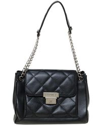 Chanel Black Quilted Leather Accordion Push Lock Flap Bag