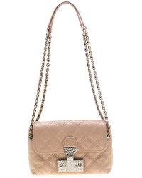 Marc Jacobs Nude Leather Baroque Shoulder Bag - Natural