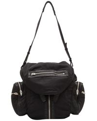 Alexander Wang Black Lambskin Trimmed Nylon Marti Backpack