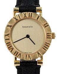 Tiffany & Co. Gold Dial 18k Yellow Gold Atlas L0630 Women's Wristwatch 24 Mm - Metallic