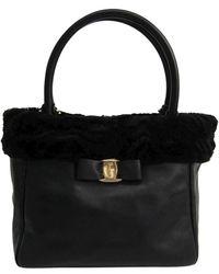 Ferragamo - Leather/fur Vara Tote - Lyst