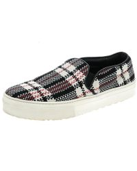 Céline - Multicolor Checkered Print Canvas Skate Slip On Sneakers - Lyst