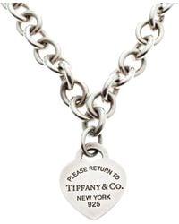 Tiffany & Co. - Return To Tiffany Heart Tag Silver Necklace - Lyst