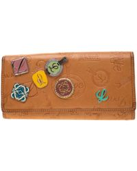 Loewe Tan Signature Leather Continental Wallet - Brown