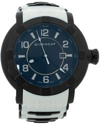 Givenchy Black Pvd Coated Stainless Steel Silicon Rubber Gv.5254j Men's Wristwatch - White