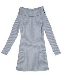 Dior Grey Ribbed Knit Turtleneck Jumper Dress 12 Yrs