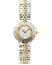 Cartier - Silver 18k Yellow Gold And Stainless Steel Must De 21 W10073f4 Women's Wristwatch 27mm - Lyst