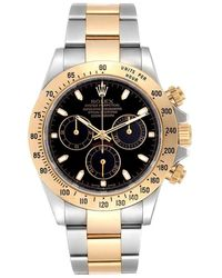 Rolex Black 18k Yellow Gold And Stainless Steel Daytona Automatic 116523 Men's Wristwatch 40 Mm