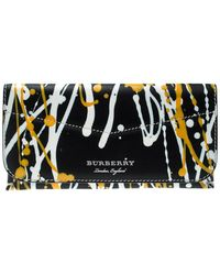 Burberry Multicolor Leather Splash Hoxton Wallet - Black