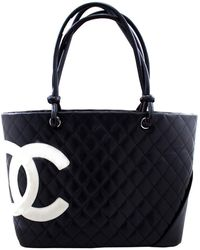 Chanel Black/white Quilted Leather Large Ligne Cambon Tote Bag